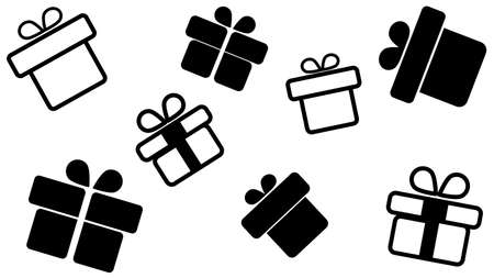 Gift Box Present Flat Style