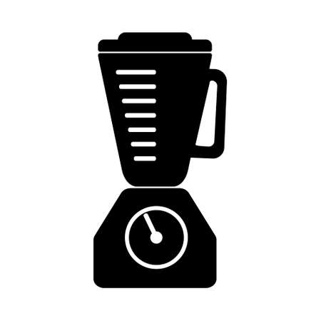 Flat black blender outline single isolated vector icon. Kitchen appliances and electronics