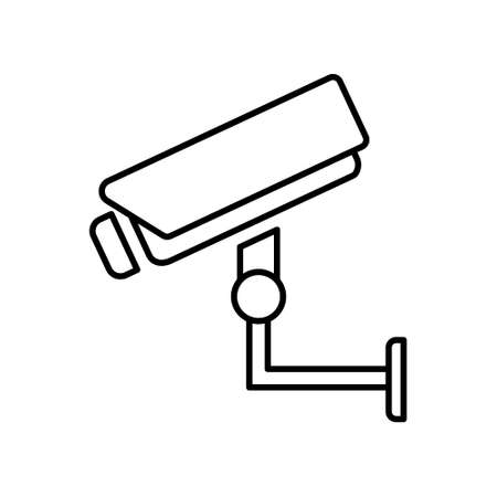 Video monitoring icon. Camera cctv sign isolated on white background