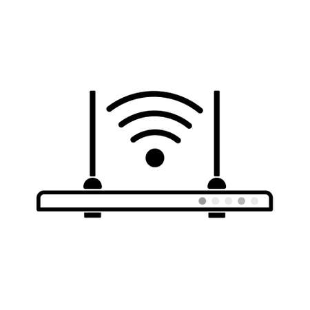 Wireless Signal Router Icon. Wi Fi Router Flat Icon