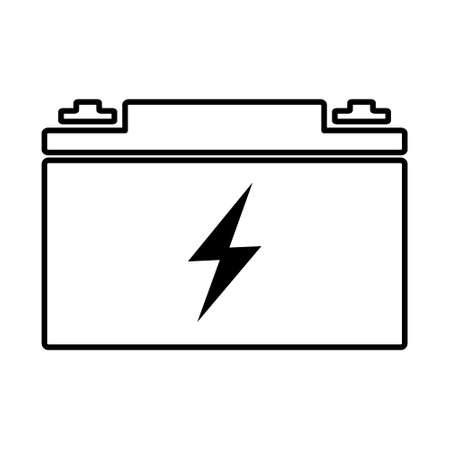 Simple car battery web icon, flat design Vecteurs
