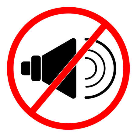 No audio icon vector isolated on white background, No audio sign. Иллюстрация