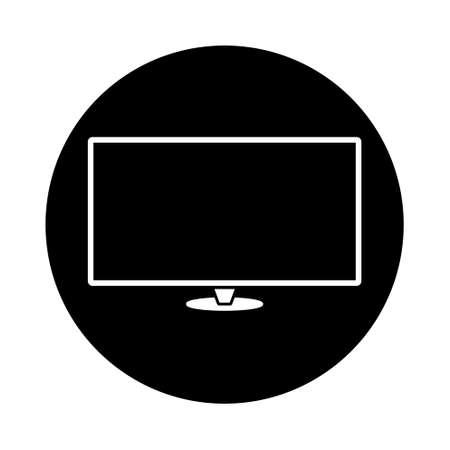 Modern thin frame display computer monitor, flat bubble design