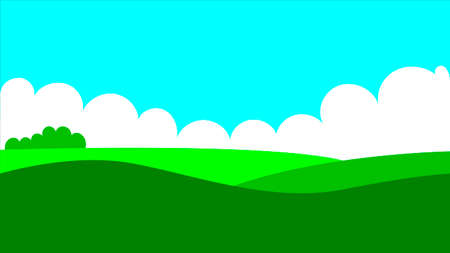 Vector illustration of beautiful summer fields landscape