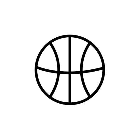 Basketball Flat Icon on White Background