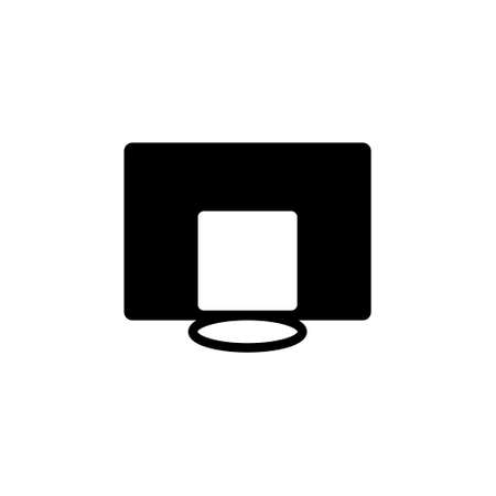 Black Basketball hoop icon thin line for web and mobile, modern minimalistic flat design.