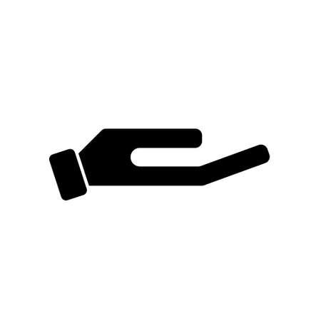 Black Give alms icon flat design