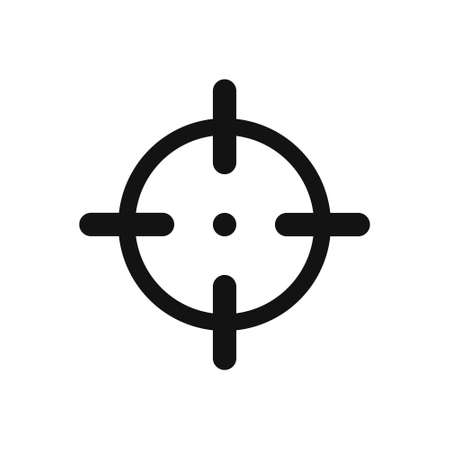 Crosshair icon on white background, vector illustration Ilustração