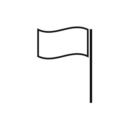 Flag line icon isolated on white background. Vector Illustration