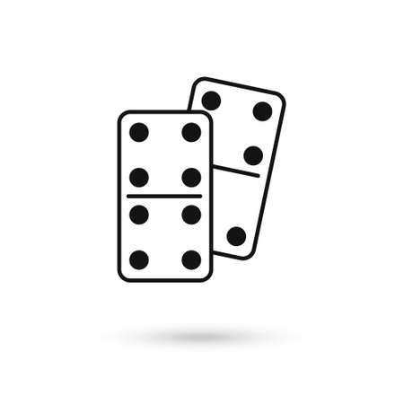 Domino dice vector icon. Flat sign for mobile concept and web design. Dominoes game icon.