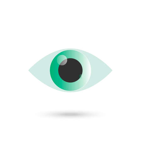 Eye green icon isolated on white background