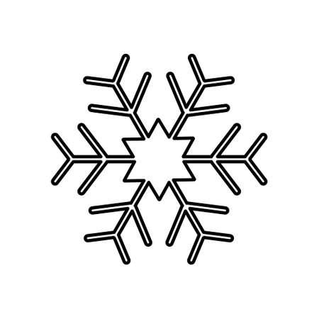Snowflake icon, flat design style isolated on white background. Vector illustration Illusztráció