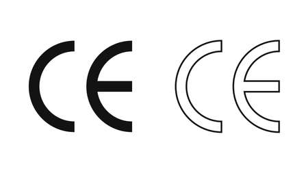 CE mark. CE symbol isolated on white background. European Conformity certification mark.