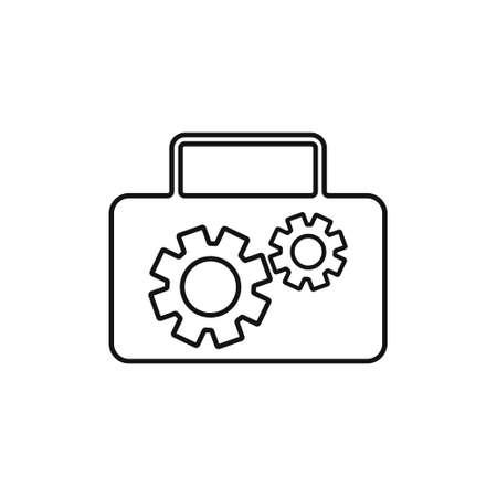 Tool box icon, vector illustration
