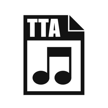 TTA File Icon, Flat Design Style