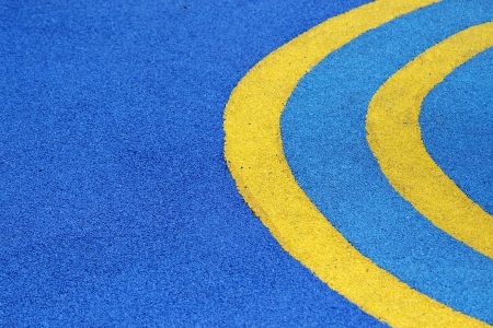 Yellow Line On Blue Ground photo