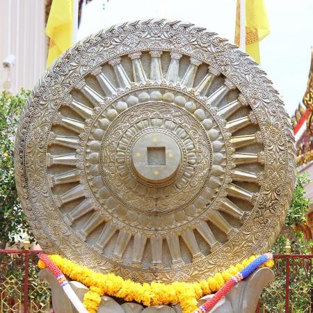 dhamma: Ruota del Dhamma, Dharmachakra Archivio Fotografico