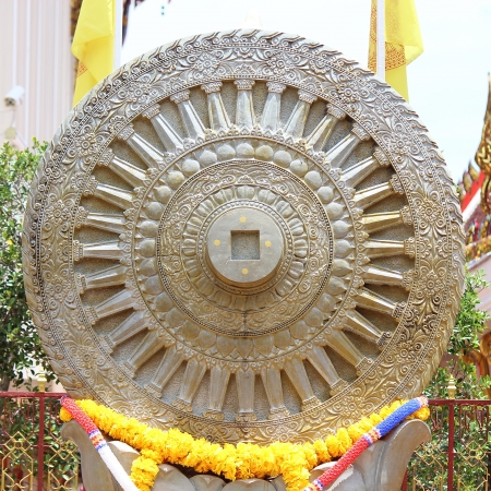 dhamma: Wheel of Dhamma, Dharmachakra  Stock Photo