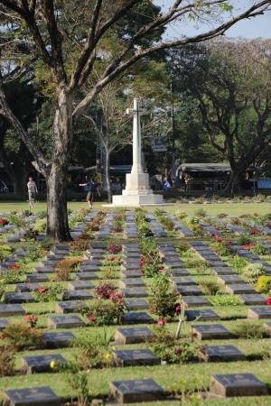 Kanchanaburi War Cemetery in Kanchanaburi, Thailand