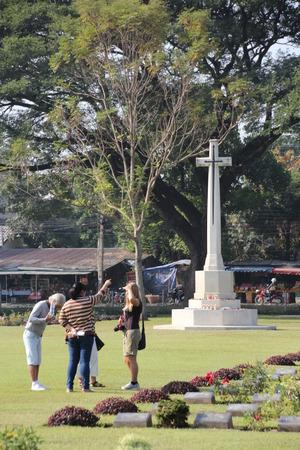 perish: Kanchanaburi War Cemetery in Kanchanaburi, Thailand