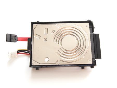 harddisk: Close Up SATA Harddisk Isolated on White Background Stock Photo