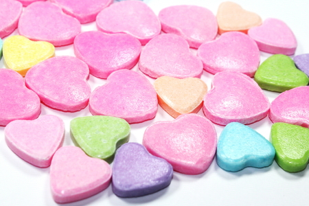 coloful: Coloful Heart Candies Isolated on White Background
