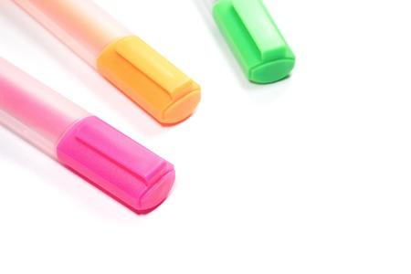 highlight: Multi colored Highlighter marker or highlight pen Stock Photo