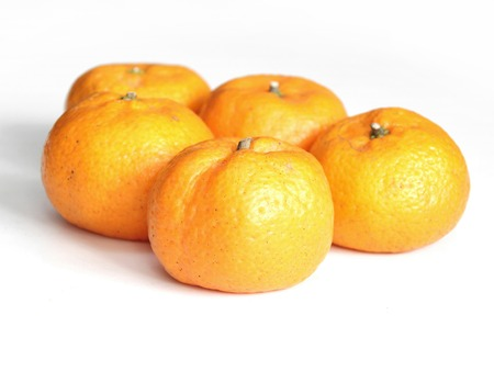 mandarin orange: Orange, Mandarin Orange, Citrus sinensis Stock Photo