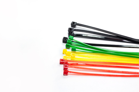 zip tie: A cable tie or tie-wrap, also known as a hose tie, or zip tie