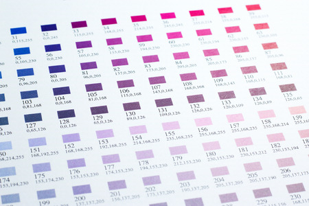 nuances: Closed up Color charts Stock Photo