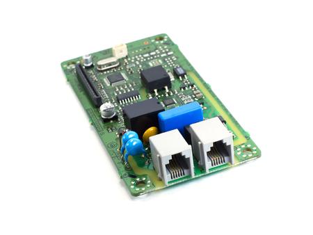 printed circuit: Electronics printed circuit board FAX circuit board