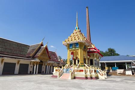 crematorium: Crematorium with blue sky background in the Thai temple