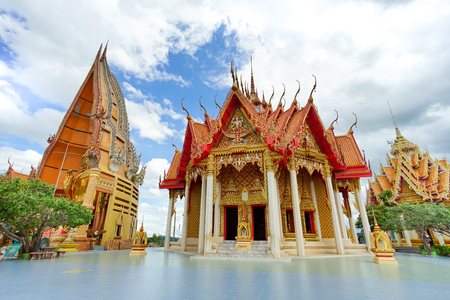 Wat Tham Sua is the most beautiful temple in Kanchanaburi, Thailand