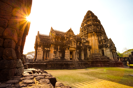 Prasat Hin Phimai, Phimai historical park in Nakhon Ratchasima province, Thailand. Foto de archivo