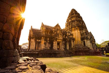 Prasat Hin Phimai, Phimai historical park in Nakhon Ratchasima province, Thailand. 版權商用圖片