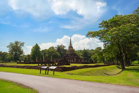 Wat Chang Lom in Si Satchanalai Historical Park, Sukhothai, Thailand.