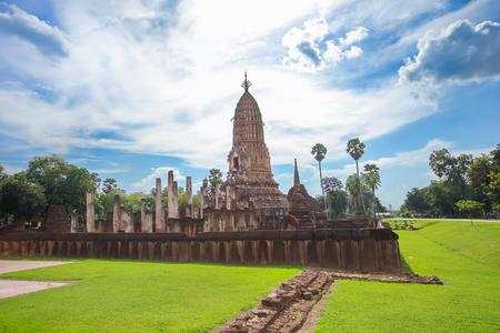 Wat Phra Si Ratana Mahathat in Si Satchanalai Historical Park, Sukhothai province, Thailand. Stock Photo