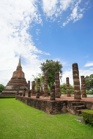 Wat Chana Songkhram in Sukhothai Historical Park, Sukhothai province, Thailand 免版税图像