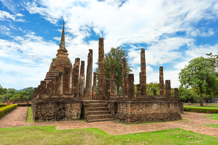 Wat Sa Si in Sukhothai Historical Park, Sukhothai province, Thailand. Stock Photo