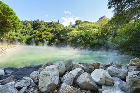 The famous Beitou Thermal Valley in Beitou Park, Taipei City, Taiwan.