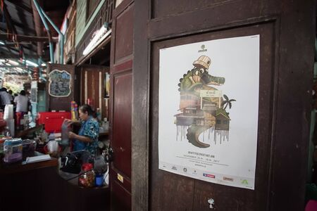 Bangkok, Thailand - June 8, 2019: Scenery of Hua Takhe Old Market in Lad Krabang district, Bangkok, Thailand. Editöryel