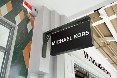 Samut Prakan, Thailand - September 06, 2019: Michael Kors Store in the new one shopping mall named Central Village.
