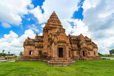 Simulated of Prasat Hin Phanom Rung in Buriram castle travel attraction in Buriram province, Thailand.