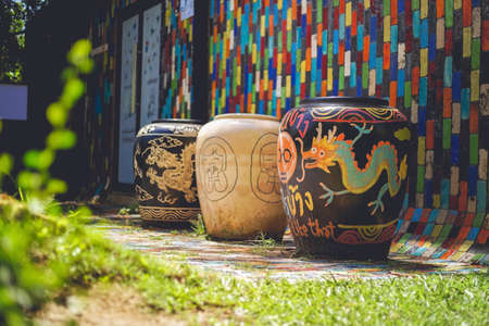 Ratchaburi, Thailand - June 20, 2020: The famous Modern Art Ceramic Gallery has been show at TAO HONG TAI ceramics factory in Ratchaburi province, Thailand.