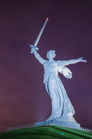 The Motherland calls statue on Mamayev Kurgan