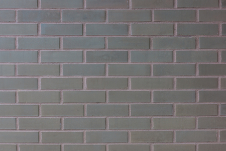 The brown brick wall background texture of the new modern builing Stock Photo