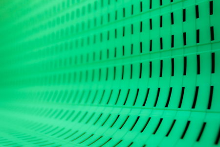 The contrast is green geometric pattern background or texture. Square elements and the lines in the white light. Abstract phote resemble the fabric structure Standard-Bild - 103121376