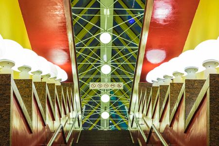 Intérieur du pont Kievsky à Moscou