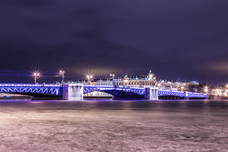 Beautiful Palace Bridge on Neva