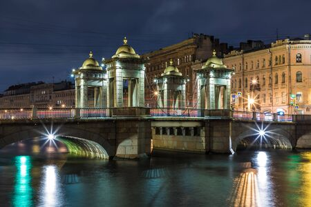 Lomonosov bridge in Petersburg